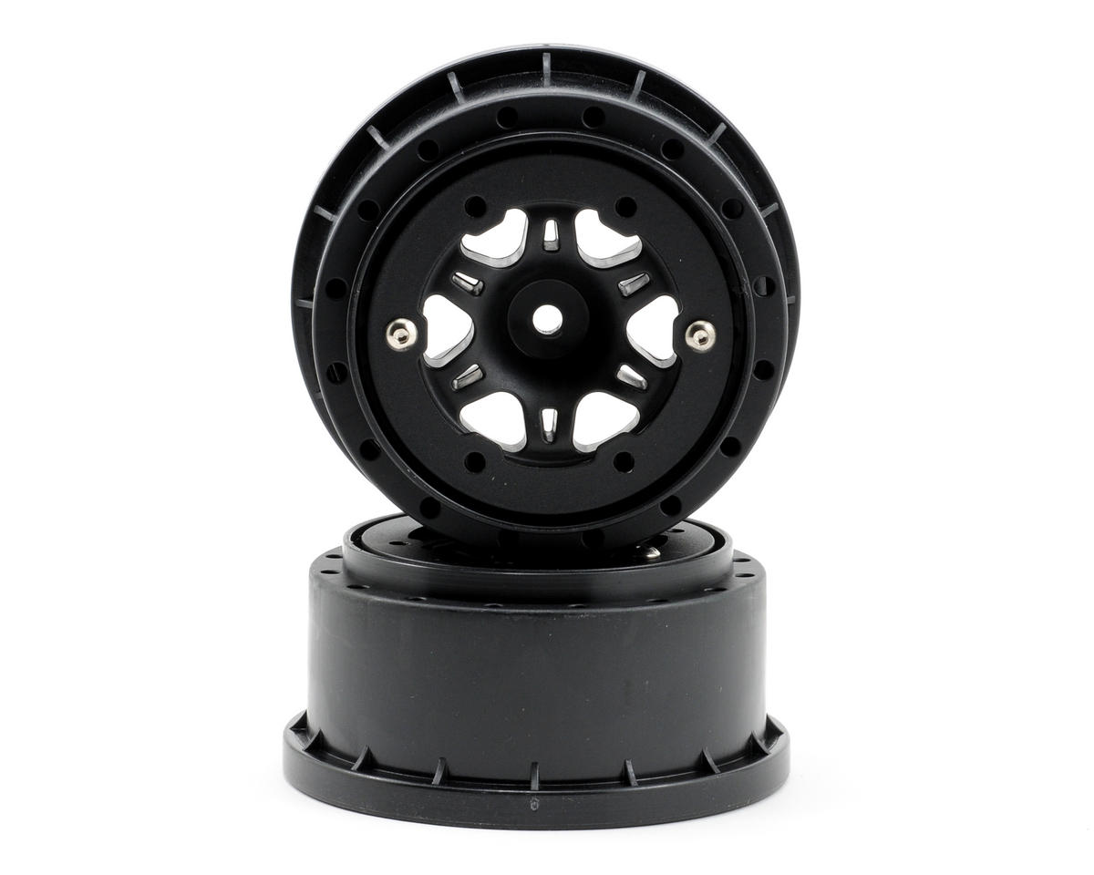 Pro-Line Split Six Bead-Loc Short Course Wheels (Black/Black) (2) (Slas