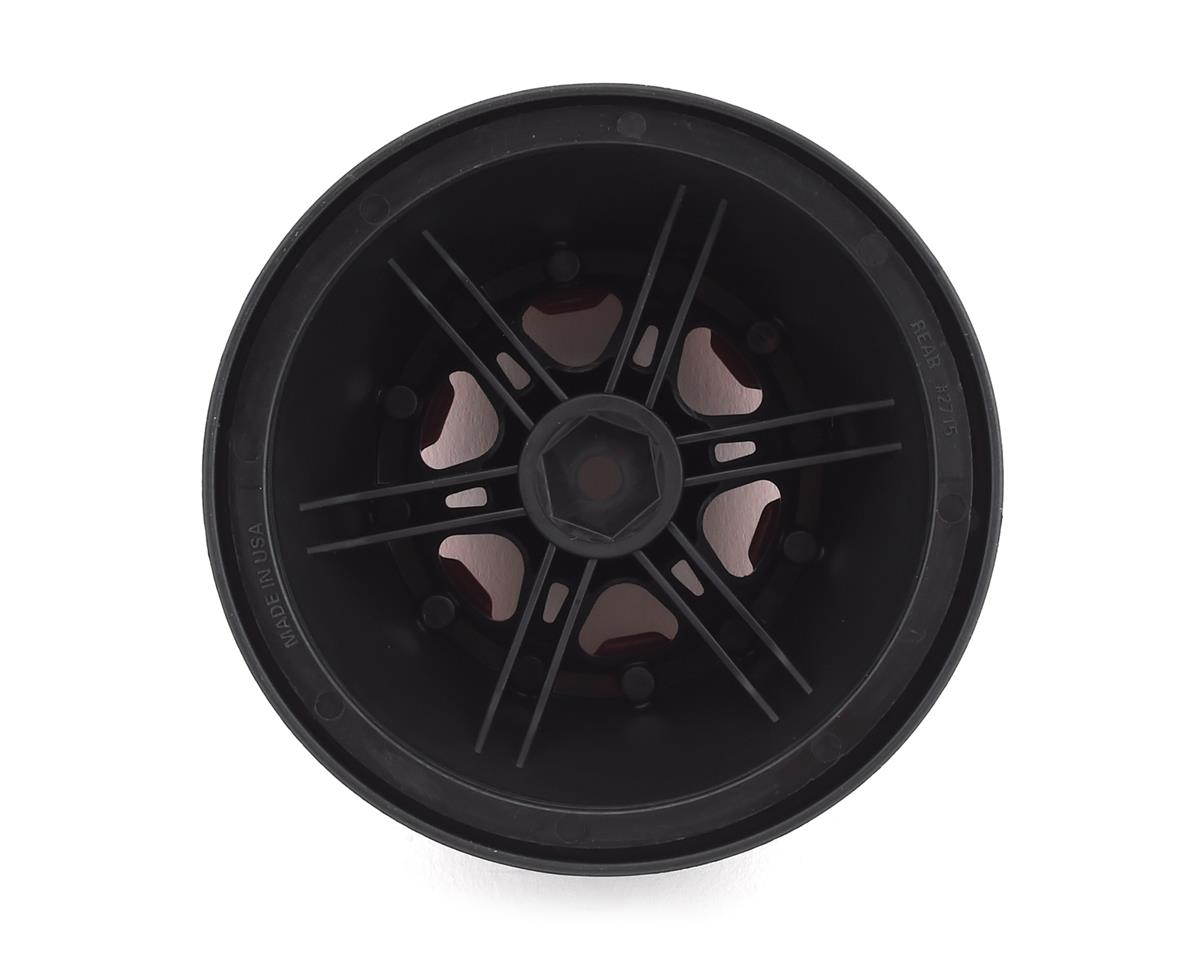 Pro-Line Split Six Bead-Loc Short Course Rear Wheels (Black/Red) (2)