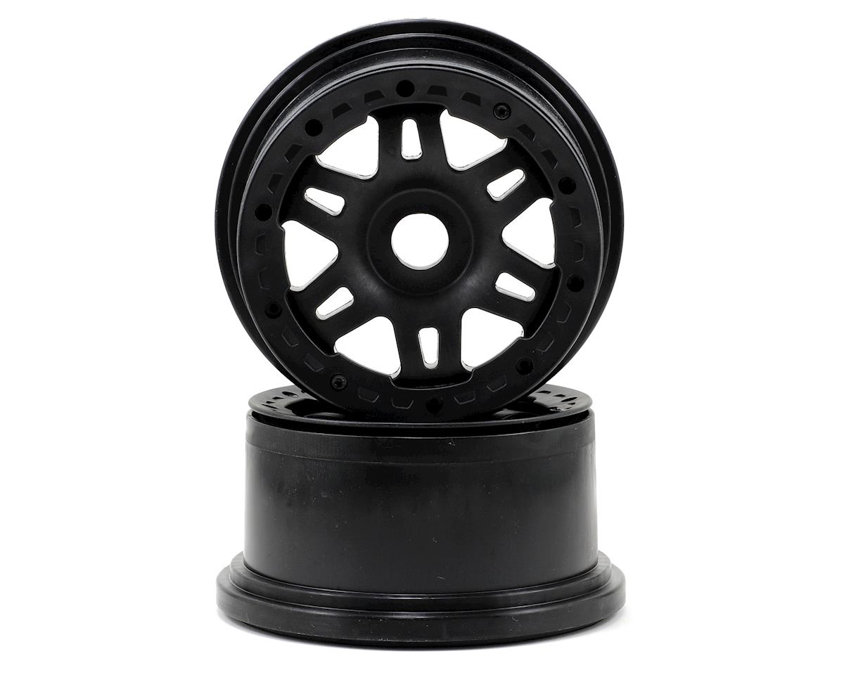 Split Six Bead-Loc Front Wheels (Baja 5T) (2) (Black/Black) by Pro-Line
