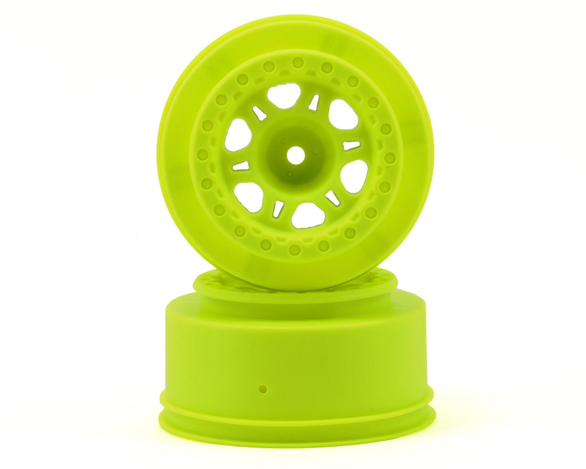 Pro-Line Split Six One-Piece Short Course Wheels (Yellow) (2) (Slash Fr
