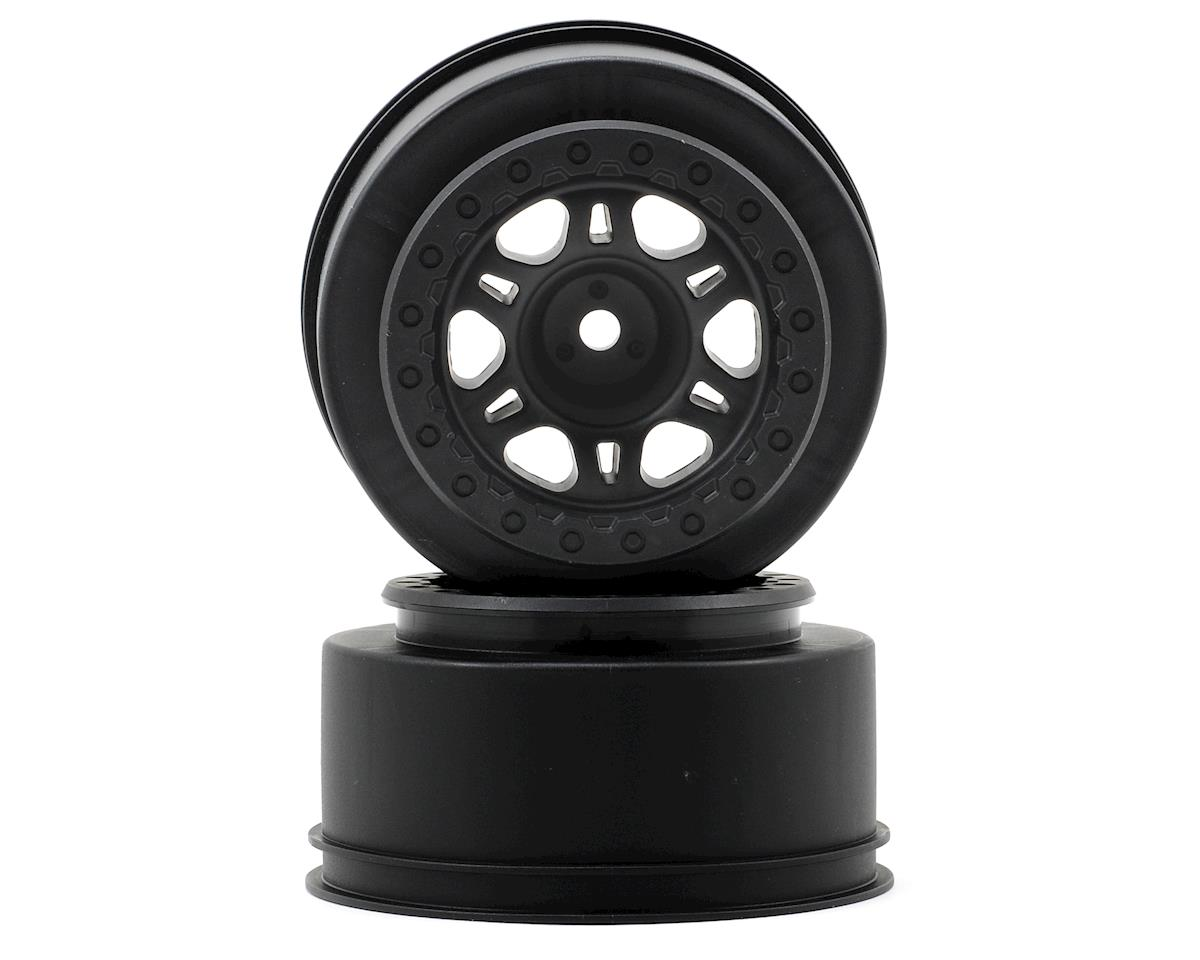 Pro-Line Split Six One-Piece Short Course Rear Wheels (Black) (2) (OFNA Jammin SCRT 10)
