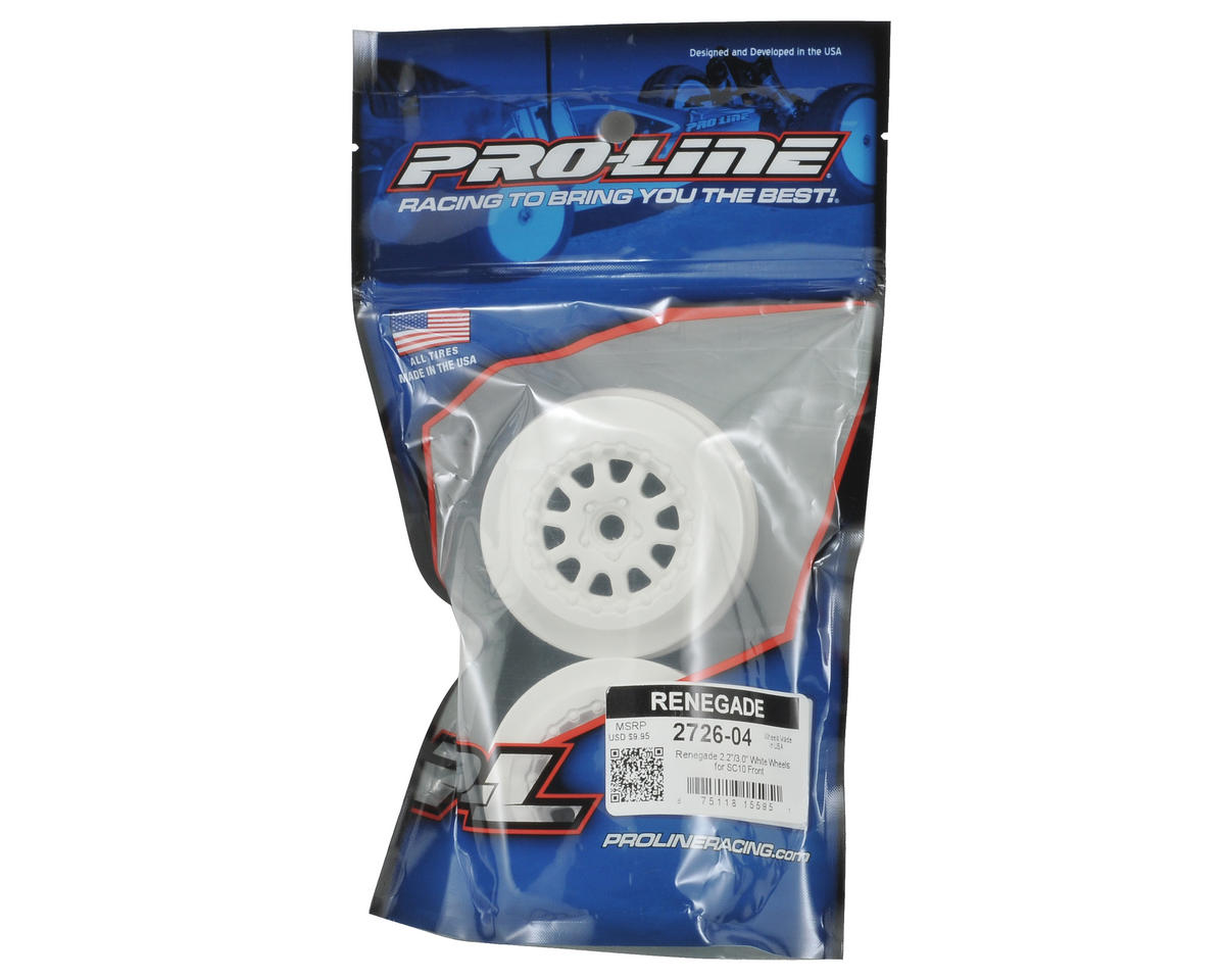 Pro-Line Renegade One-Piece Short Course Wheels (White) (2)