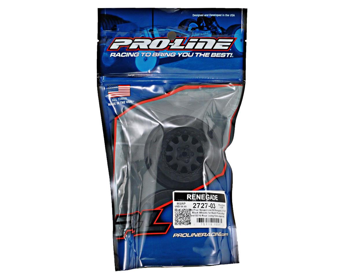 """ProTrac"" Renegade Short Course Wheels (Black) (2) (2WD Slash) by Pro-Line"