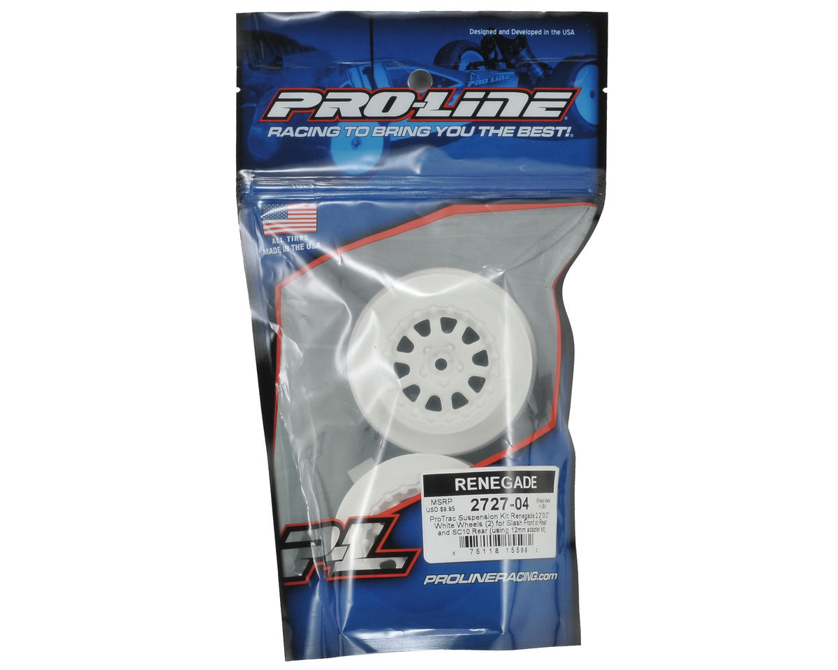 "Pro-Line ""ProTrac"" Renegade Short Course Wheels (White) (2) (2WD Slash)"