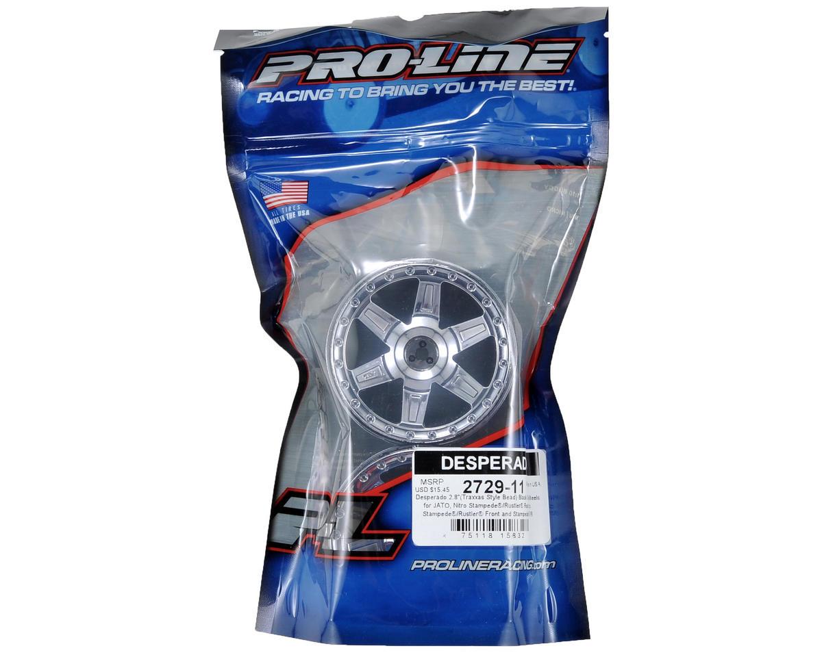 """Pro-Line 30 Series Desperado 2.8"""" Rear Nitro Wheels (2) (Black Chrome)"""