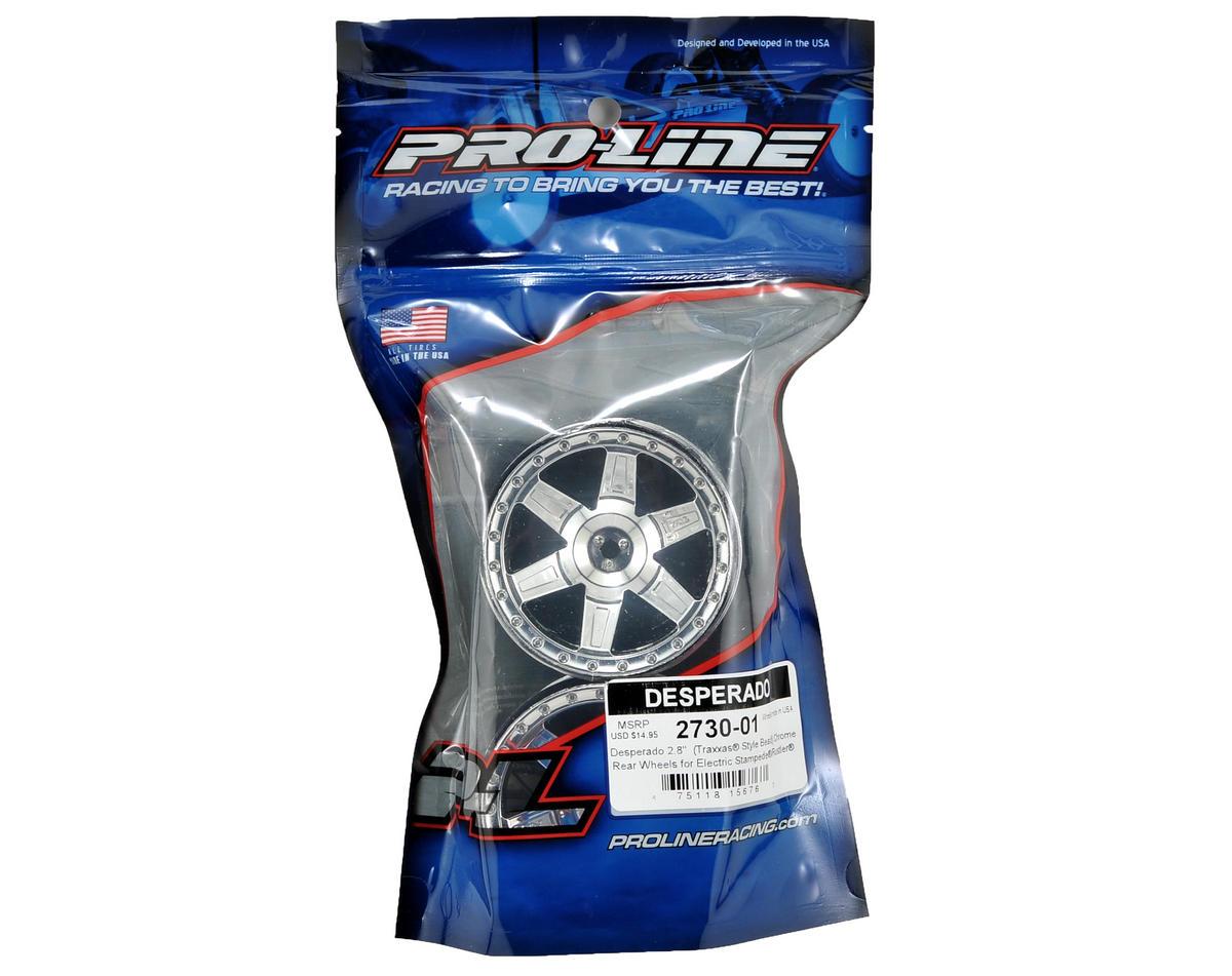 "Pro-Line 30 Series Desperado 2.8"" Rear Electric Wheels (2) (Chrome)"