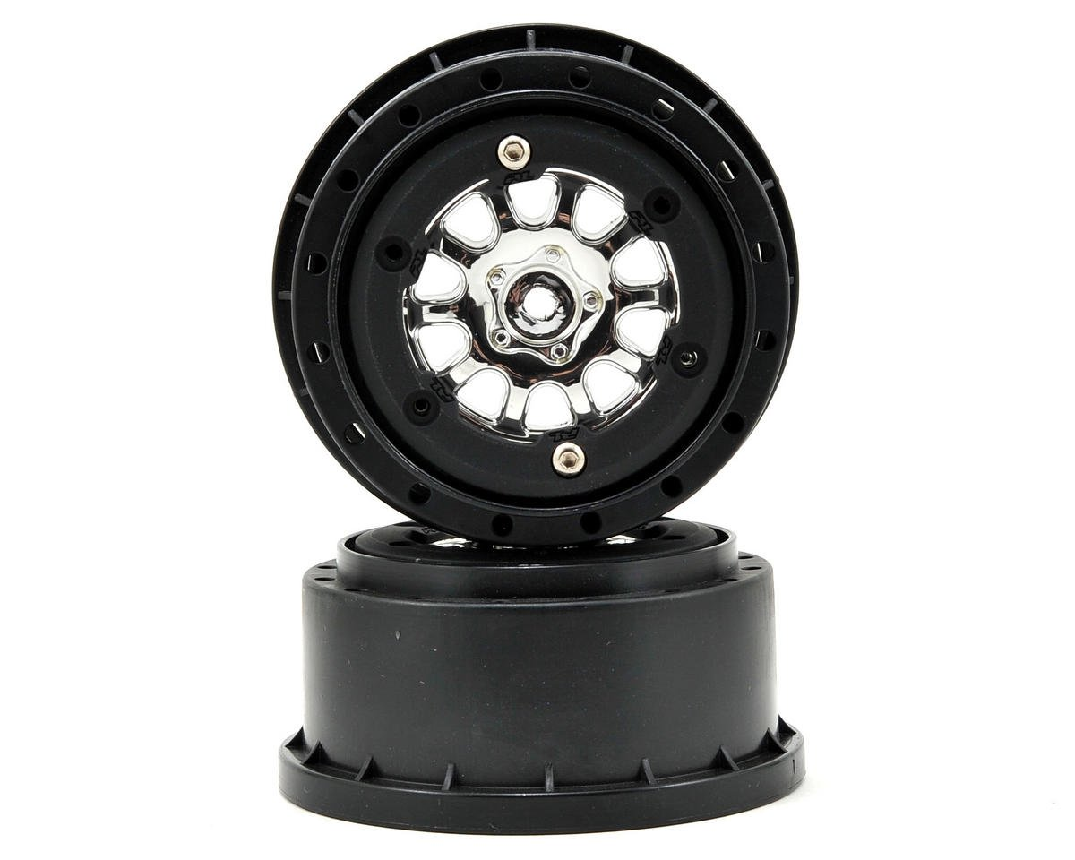 Pro-Line ProTrac Renegade Bead-Loc Short Course Wheels (Chrome/Black) (2) (Losi XXX-SCT)