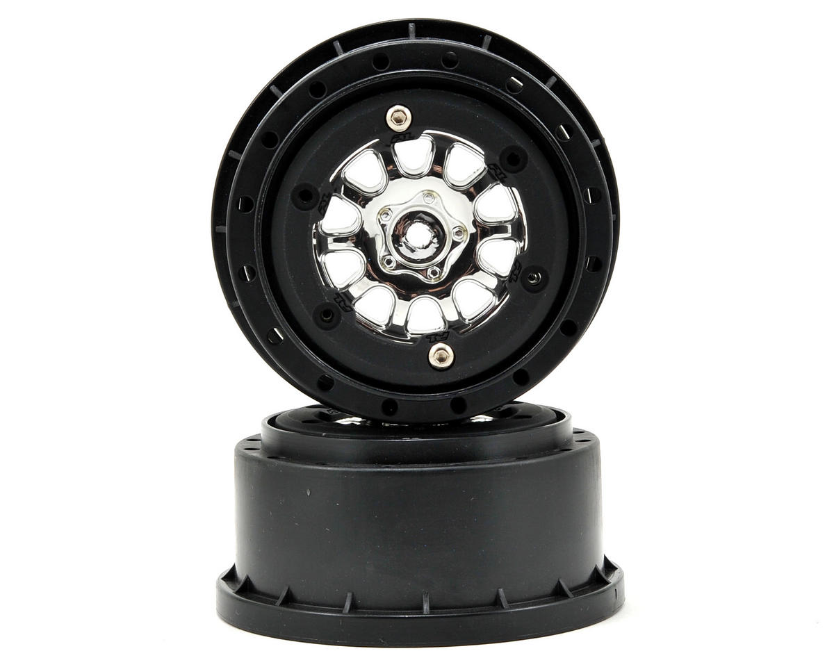 Pro-Line ProTrac Renegade Bead-Loc Short Course Wheels (Chrome/Black) (2) (Losi TEN-SCTE)