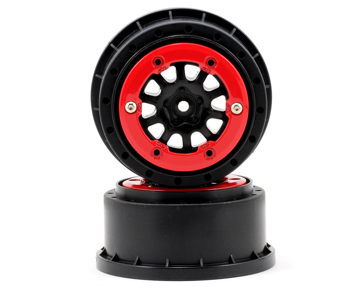 Pro-Line ProTrac Renegade Bead-Loc Short Course Wheels (Black/Red) (2)