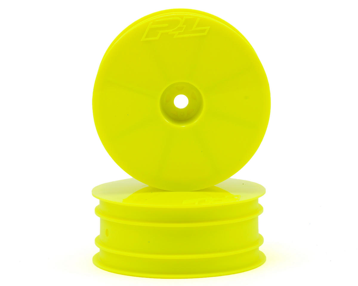 "Velocity 2.2"" Front Wheels (2) (B6/RB6) (Yellow) by Pro-Line"