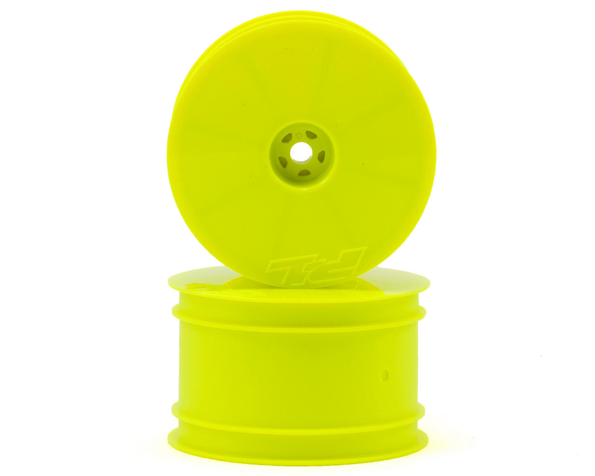 """Velocity 2.2"""" Rear Wheels (2) (B6/22/RB6/ZX6) (Yellow) by Pro-Line"""