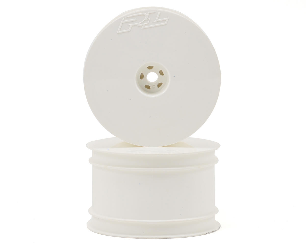 "Pro-Line Velocity 2.2"" Rear Wheels (2) (B6/22/RB6/ZX6) (White) (Team Associated RC10 B6D)"