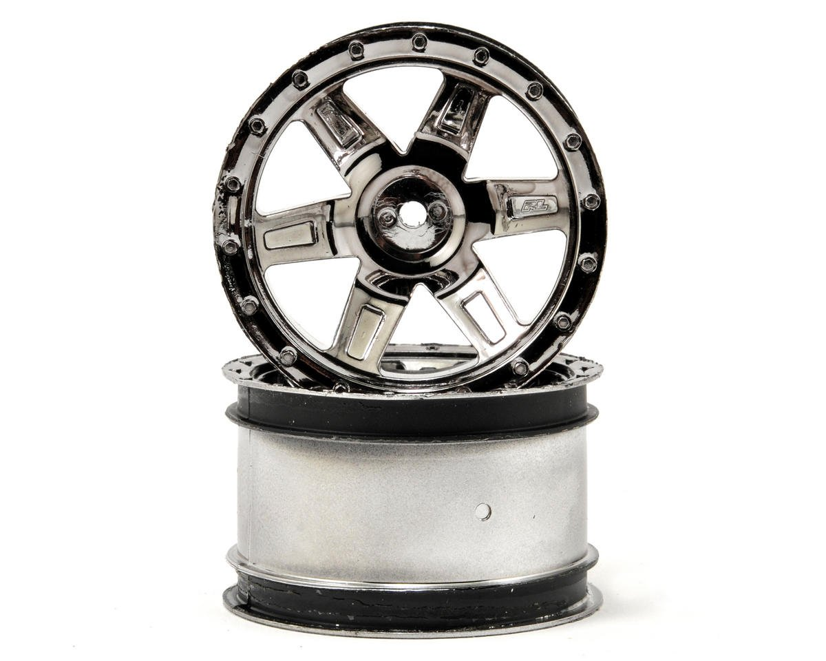 "Pro-Line Desperado 2.2"" Wheels (2) (Black Chrome)"
