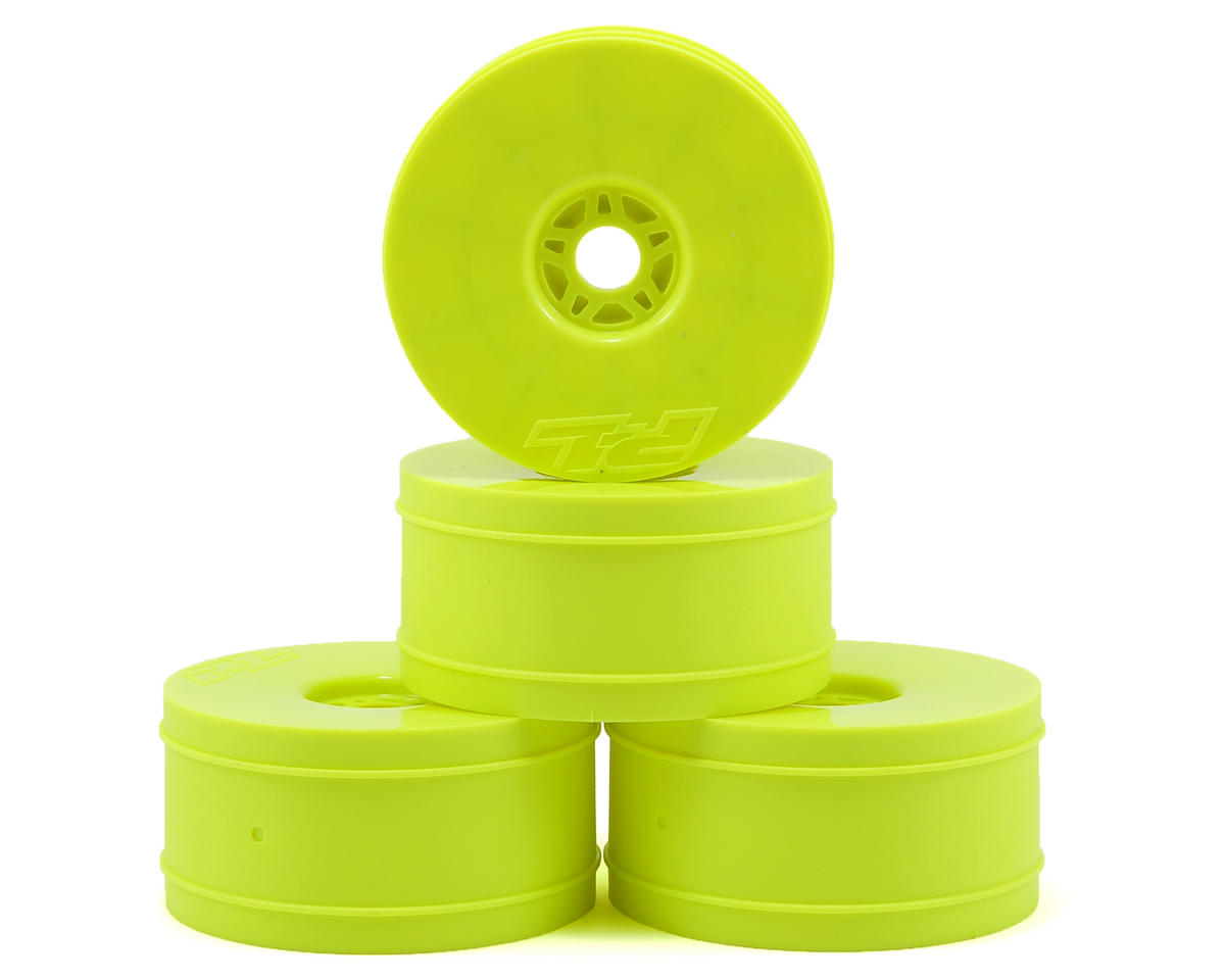 Velocity Lightweight 1/8 Buggy Rims (4) (Yellow) by Pro-Line