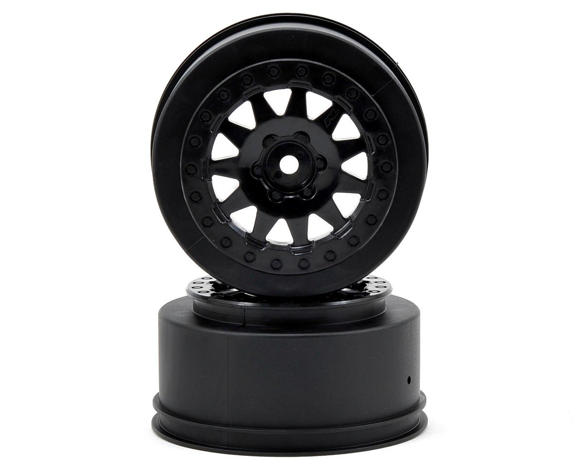 Pro-Line F-11 Short Course Wheels w/+3mm Offset (Black) (2) (Team Associated SC10 4x4)
