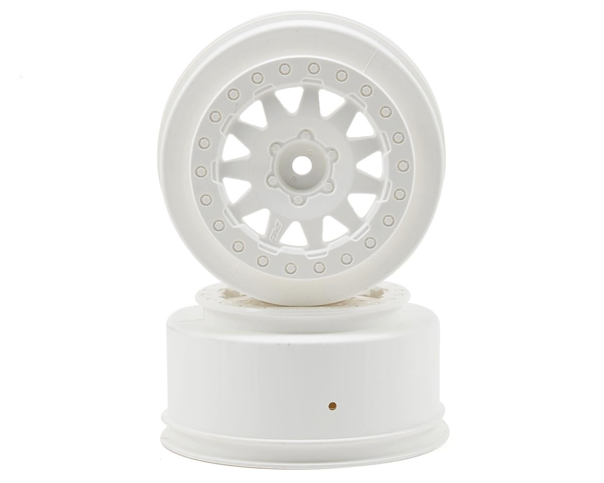 Pro-Line F-11 Short Course Wheels w/+3mm Offset (White) (2) (SC5M)