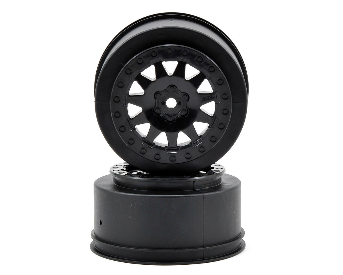 Pro-Line ProTrac F-11 Short Course Wheels (Black) (2) (Team Associated SC10 4x4)