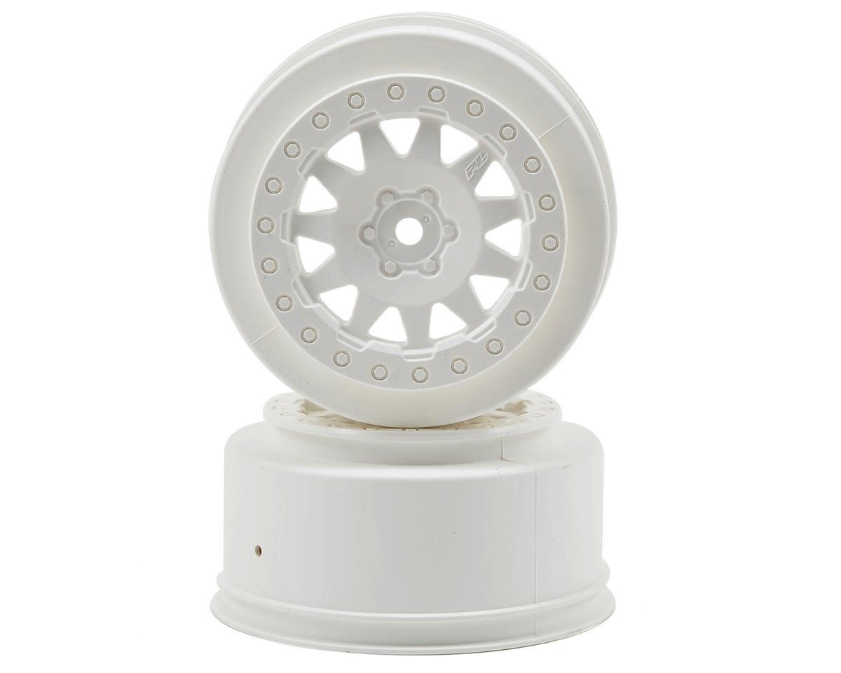 Pro-Line ProTrac F-11 Short Course Wheels (White) (2) (Losi XXX-SCT)