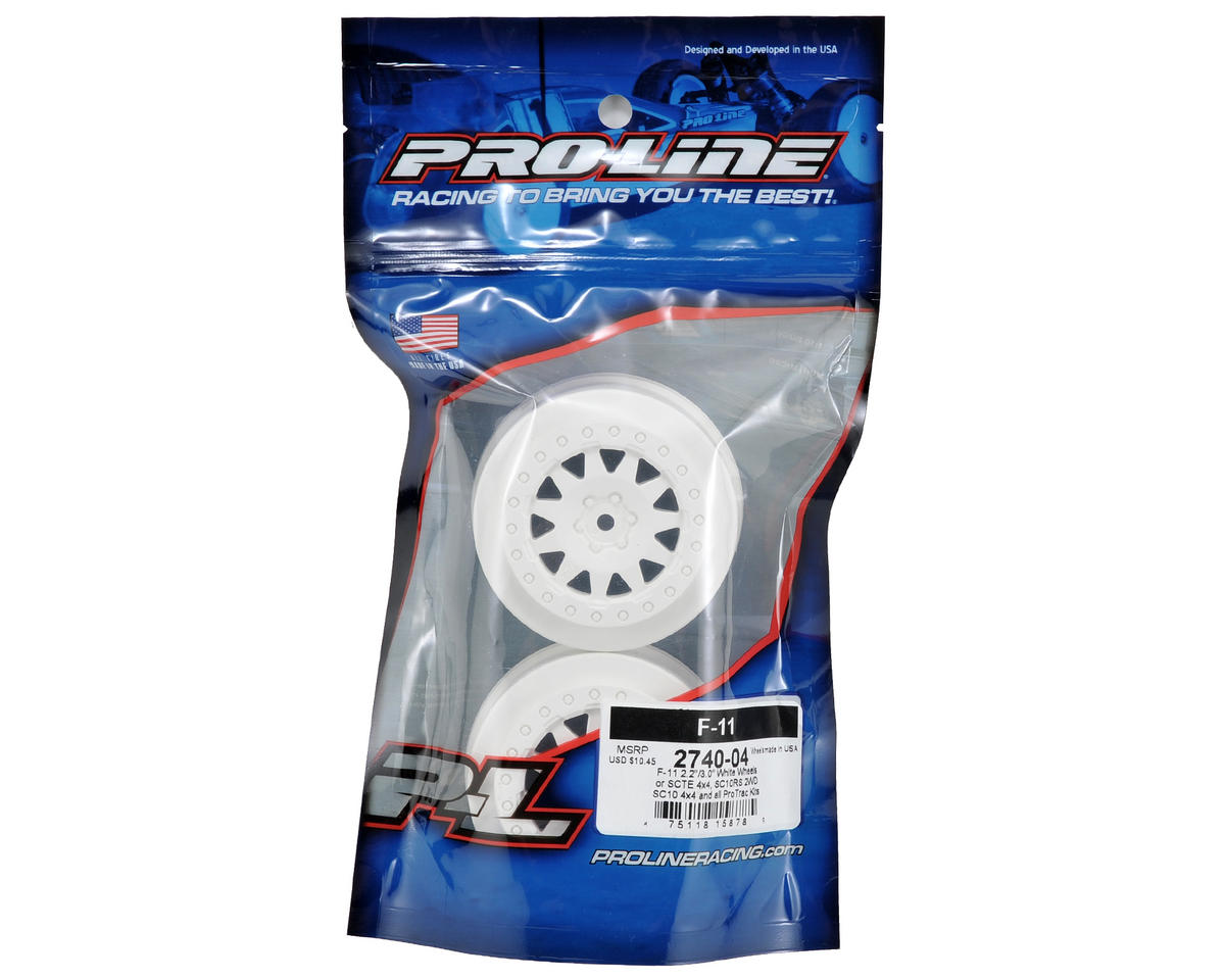 ProTrac F-11 Short Course Wheels (White) (2) by Pro-Line