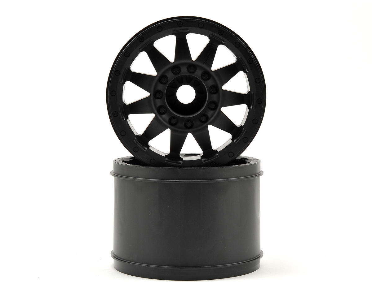"Pro-Line F-11 3.8"" 17mm 1/2 Offset Wheels (2) (Black) (Traxxas E-Revo)"