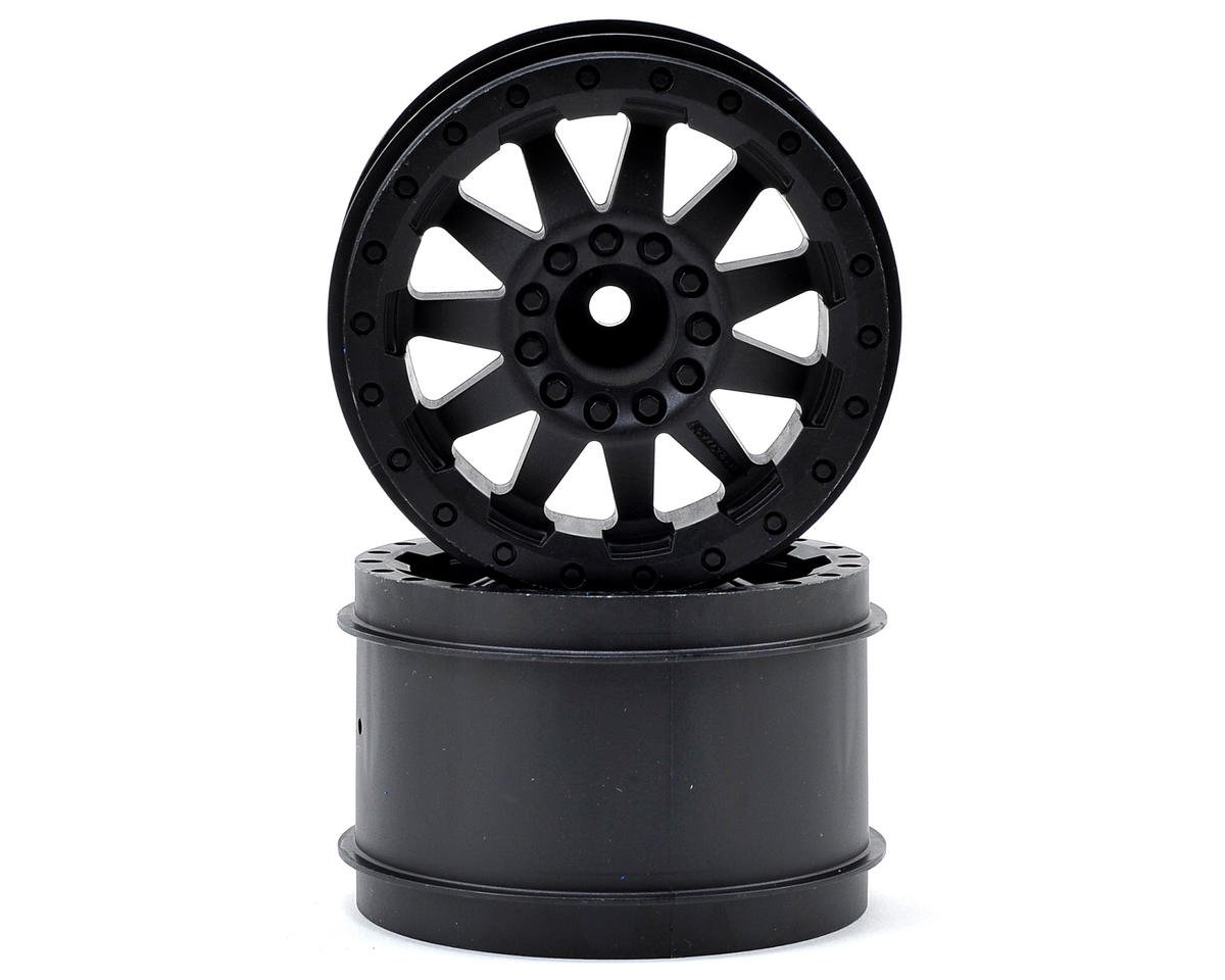 "Pro-Line 30 Series F-11 2.8"" Rear Nitro Wheels (2) (Black) (Traxxas Rustler)"