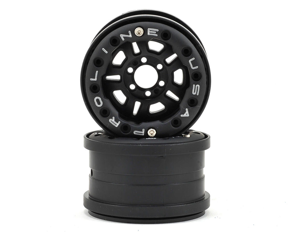 FaultLine 2.2 6 Lug Bead-Loc Crawler Wheels (2) (Black/Black) by Pro-Line