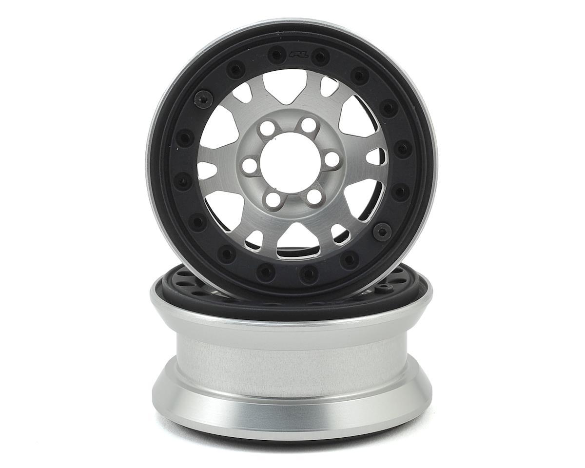 "Pro-Line Pro-Forge Impulse 6 Lug 1.9"" Aluminum Beadlock Wheels (2) (Silver)"