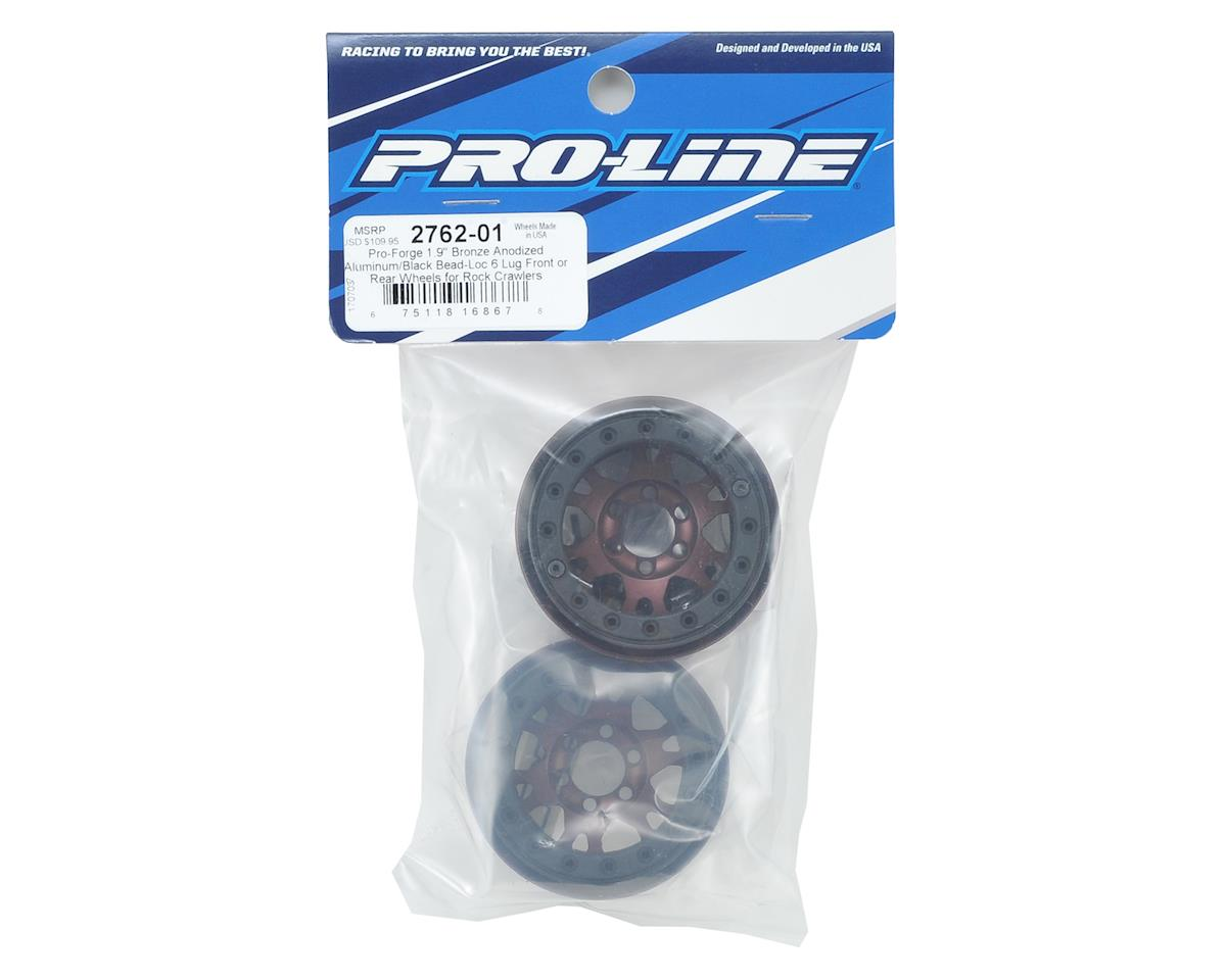 "Pro-Line Pro-Forge Impulse 6 Lug 1.9"" Aluminum Beadlock Wheels (2) (Bronze)"