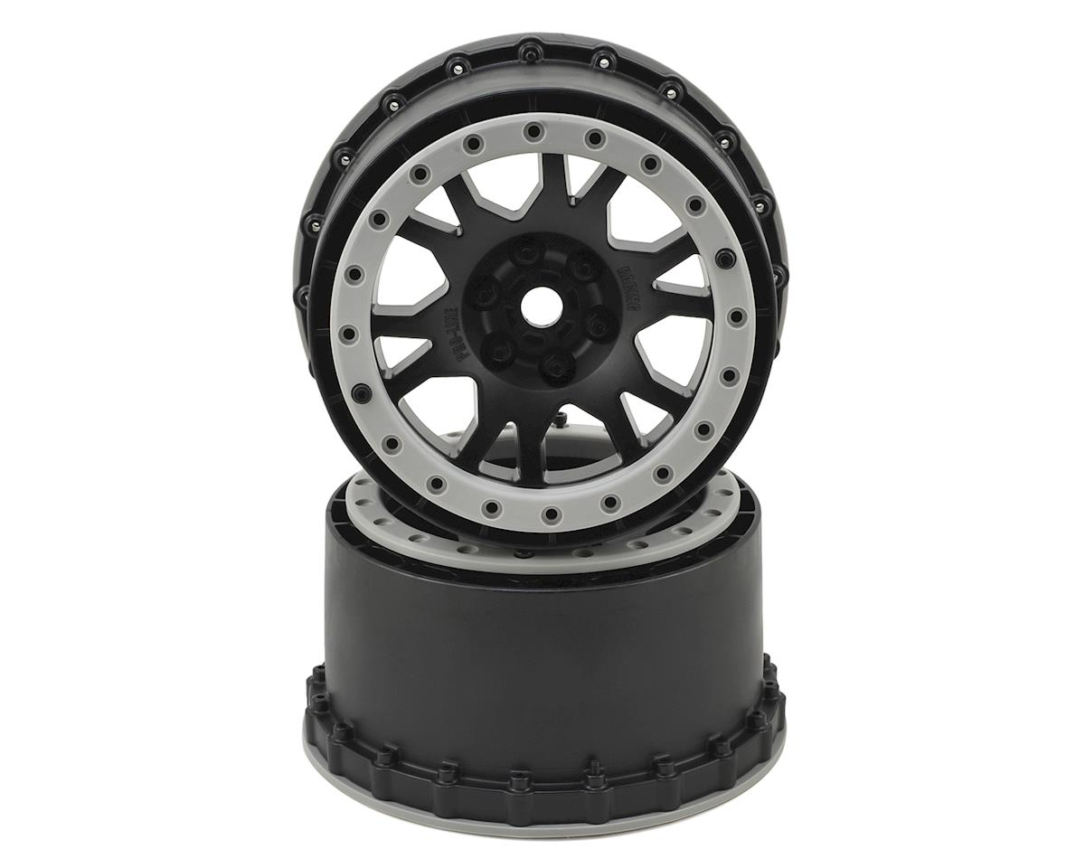 X-MAXX Impulse Pro-Loc Wheels (Black w/Stone Gray Rings) (2) by Pro-Line