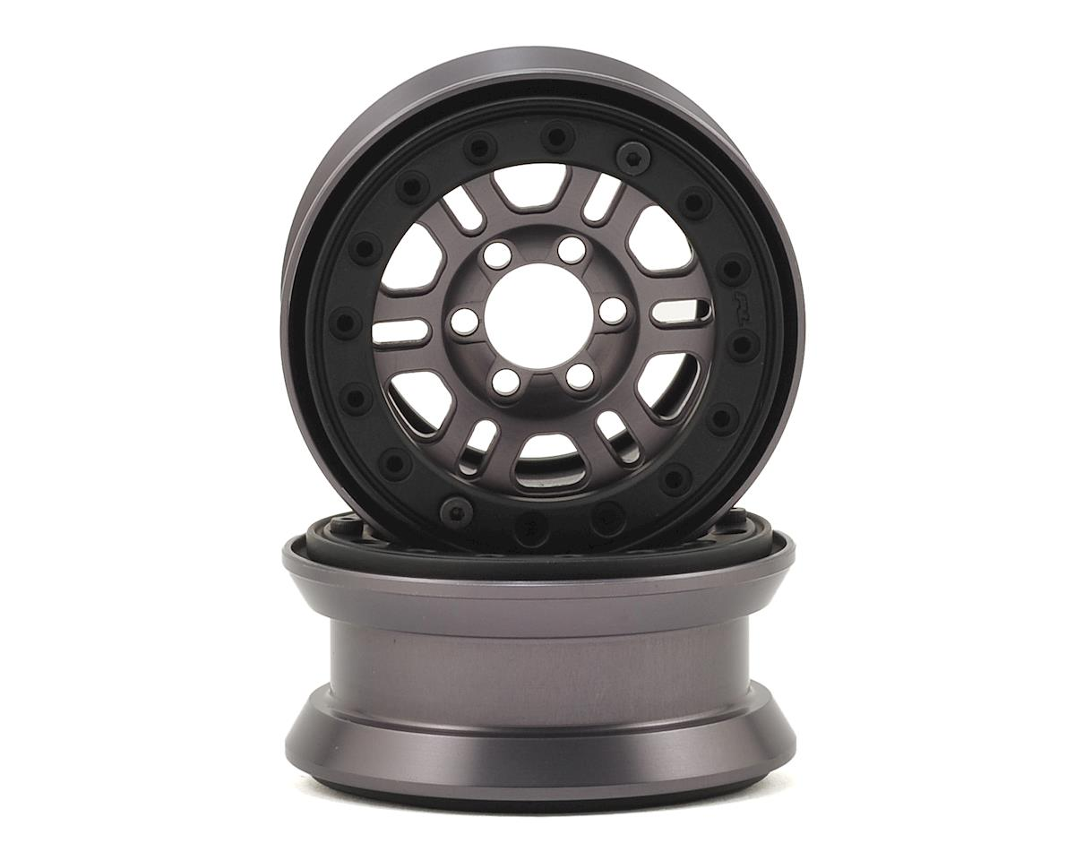 "Pro-Forge FaultLine 1.9"" Bead Loc Wheel (2) (Gun Metal) by Pro-Line"
