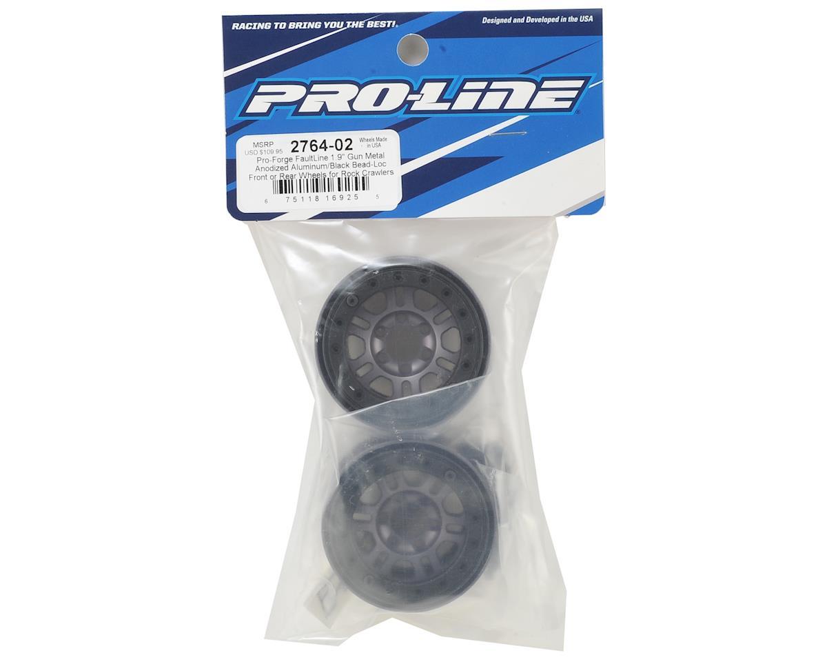 "Pro-Line Pro-Forge FaultLine 1.9"" Bead Loc Wheel (2) (Gun Metal)"