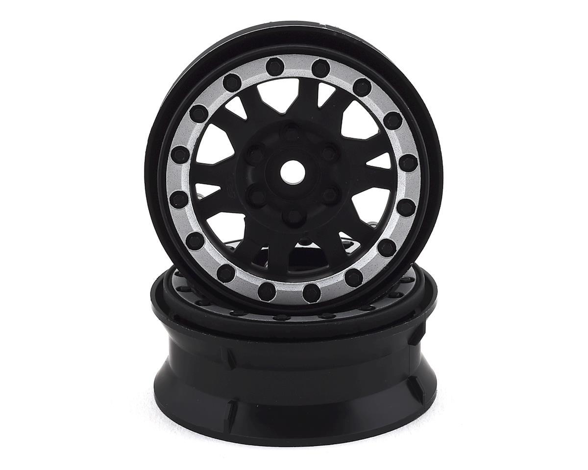"Pro-Line Impulse 1.9"" Bead-Loc Wheels (Black/Silver) (2) (Axial SCX10)"