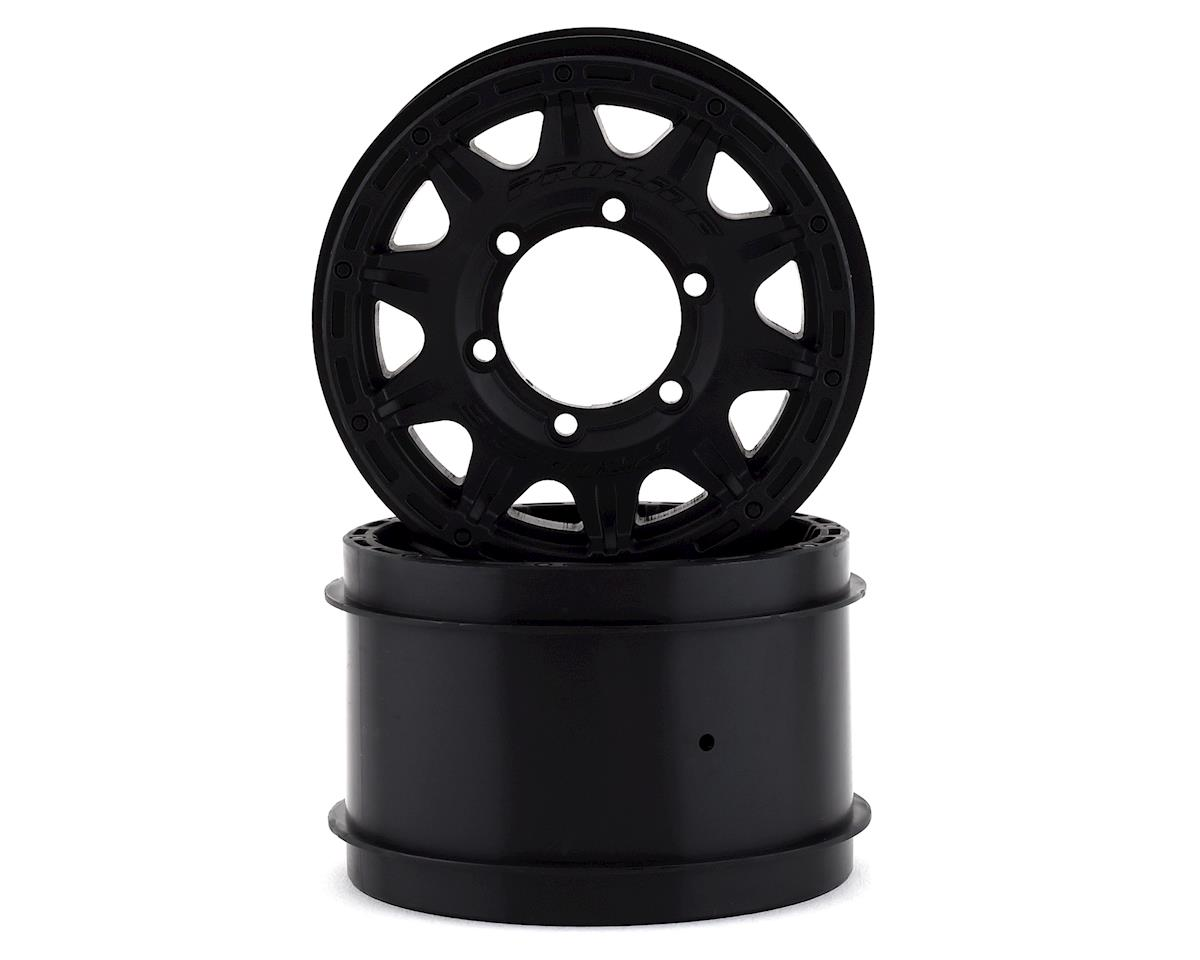"Pro-Line Raid 2.8"" Wheel w/Removable Hex (Black) (2) (Traxxas Nitro Rustler)"