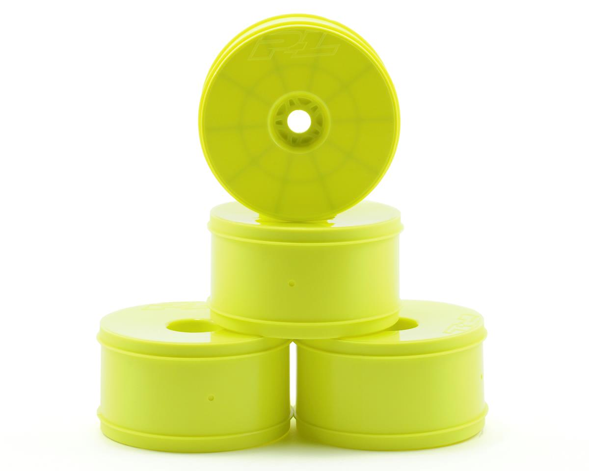 "SCRATCH & DENT: Pro-Line Velocity VTR 4.0"" Zero Offset Monster Truck Wheels (4) (Yellow)"