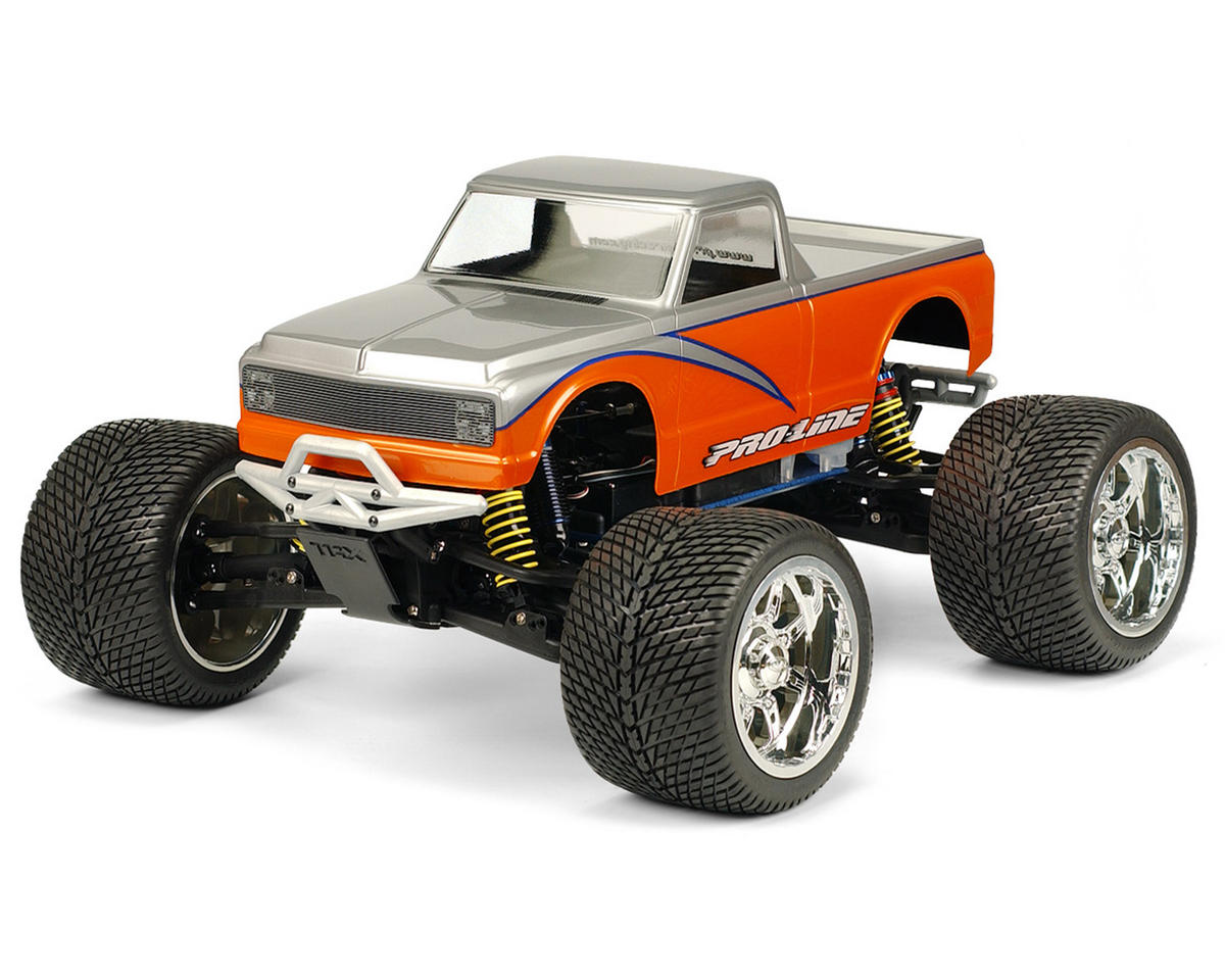 '72 Chevy C10 Pick Up Monster Truck Body (Clear) by Pro-Line