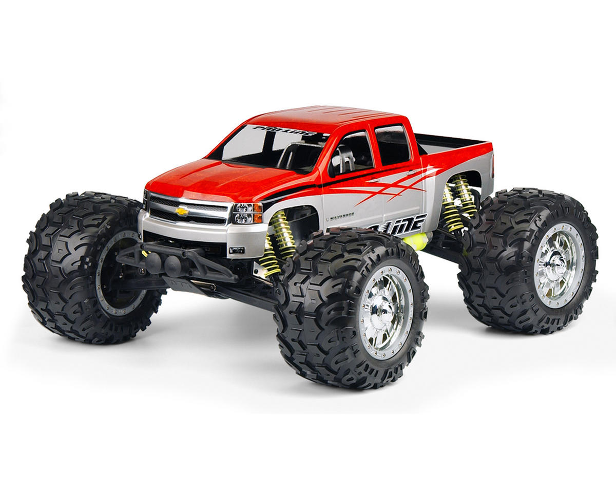 Pro-Line '07 Chevy Silverado Crew Cab Monster Truck Body (Clear)