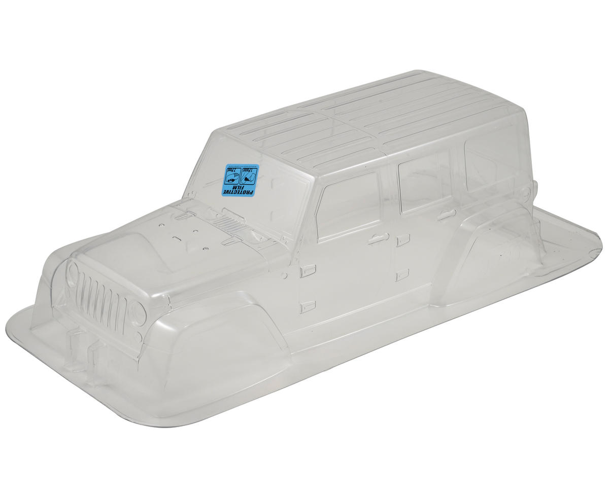 SCX10 Jeep Wrangler Unlimited Rubicon 12.3 Crawler Body (Clear) by Pro-Line