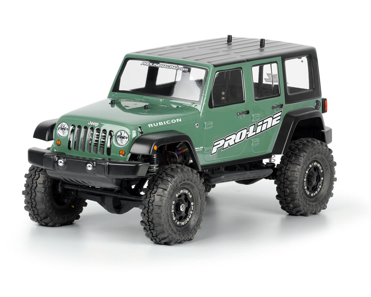 Pro-Line SCX10 Jeep Wrangler Unlimited Rubicon 12.3 Crawler Body (Clear)