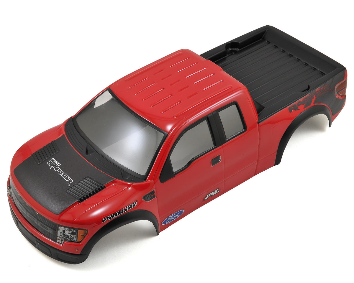 Pro-Line F-150 SVT Raptor Pre-Painted & Pre-Cut Body (Red) (Stampede)