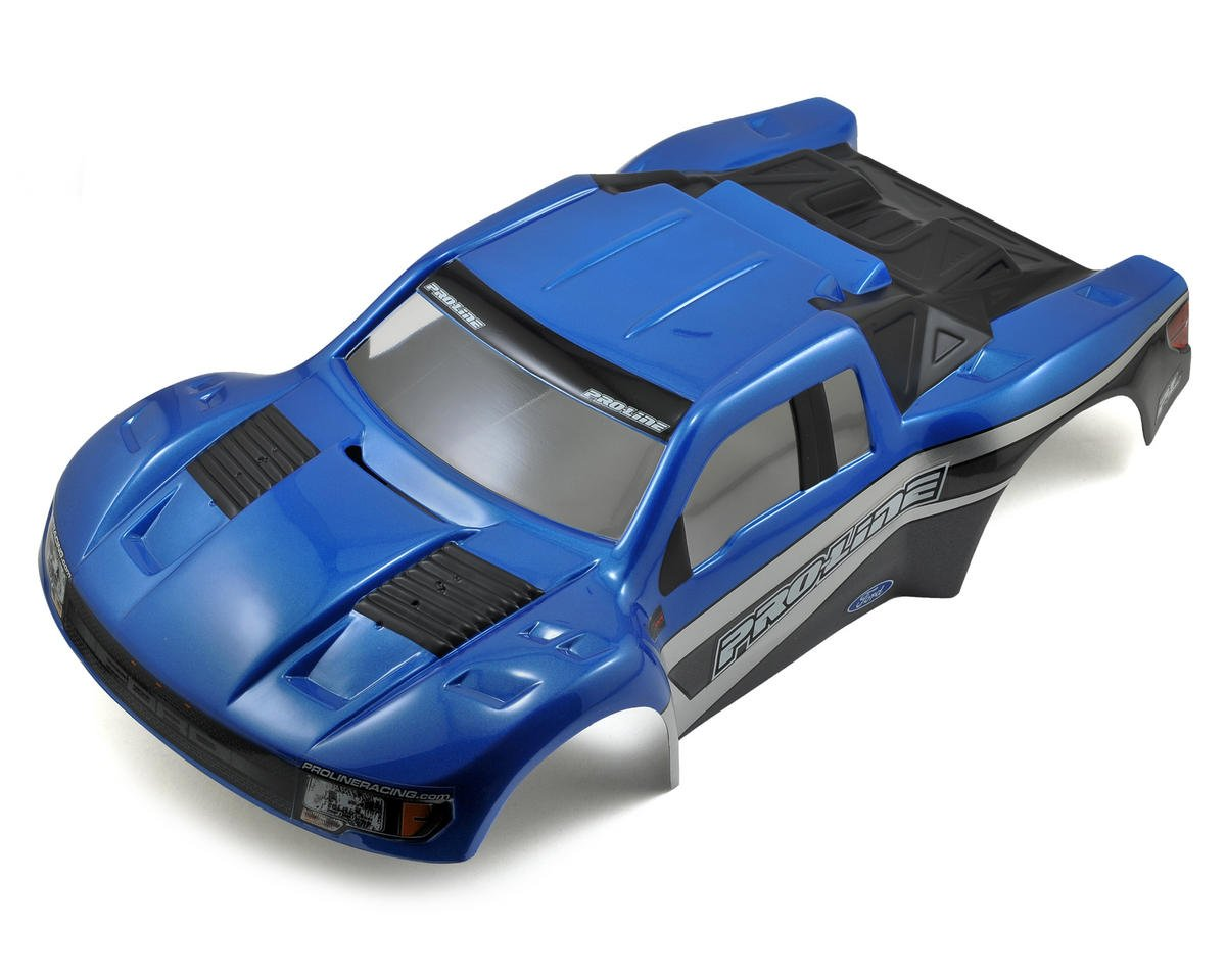 Pro-Line Flo-Tek Ford F-150 Raptor SVT Body (Blue/Stealth Scheme) (Team Associated SC10)