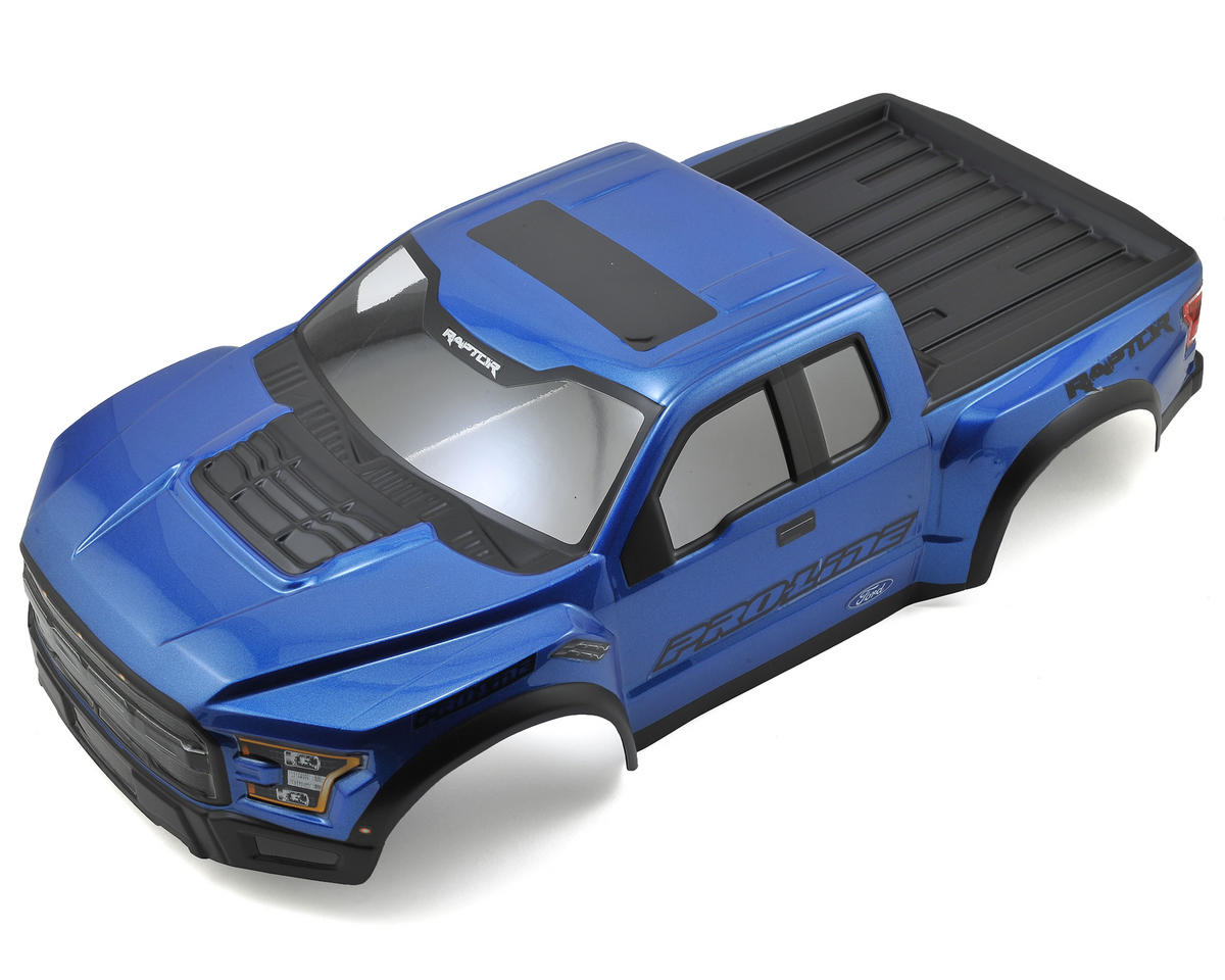 Pro-Line 2017 F-150 Raptor Pre-Painted & Pre-Cut Scale Body (Blue) (Team Associated SC10.2)