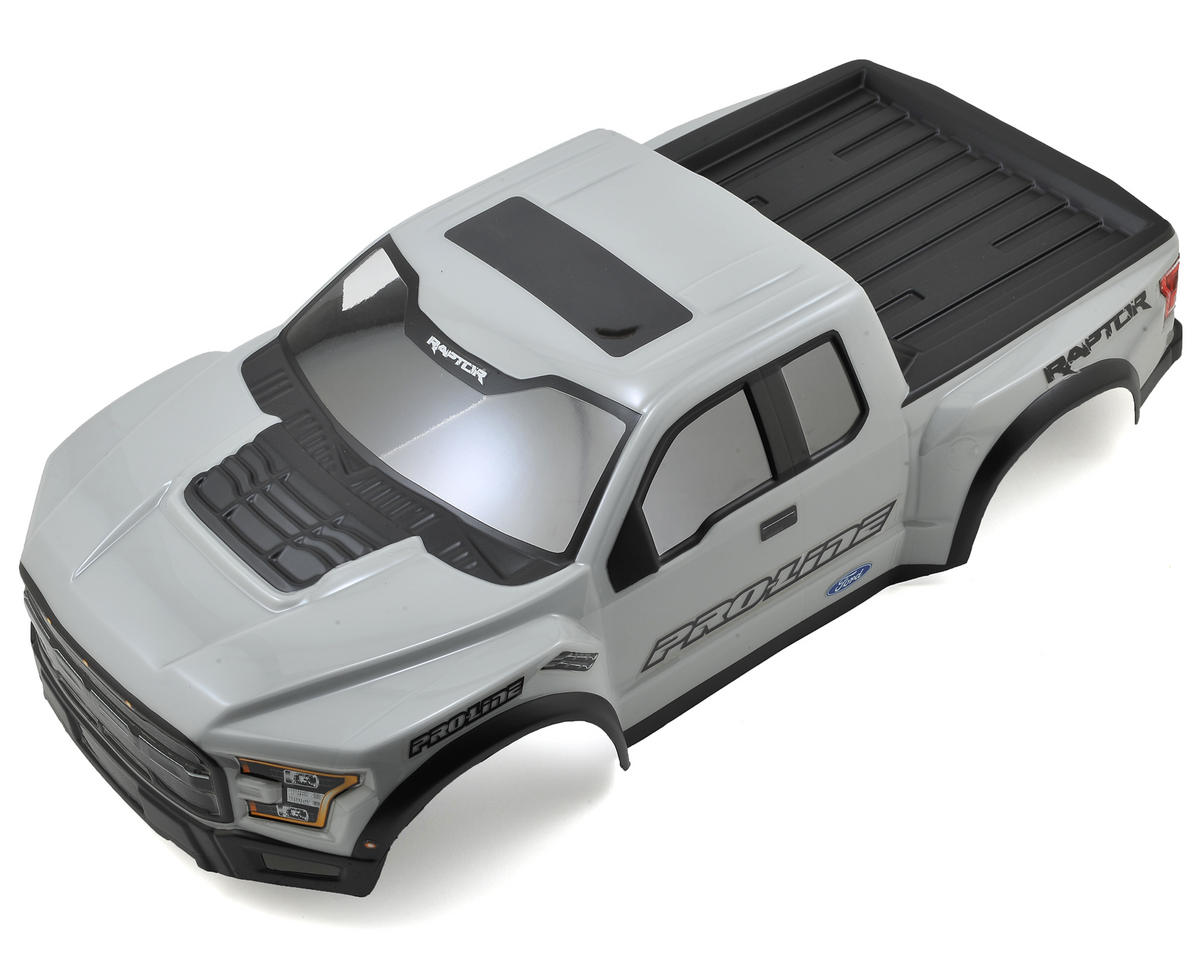 Pro-Line 2017 F-150 Raptor Pre-Painted & Pre-Cut Scale Body (Gray) (Team Associated SC10)