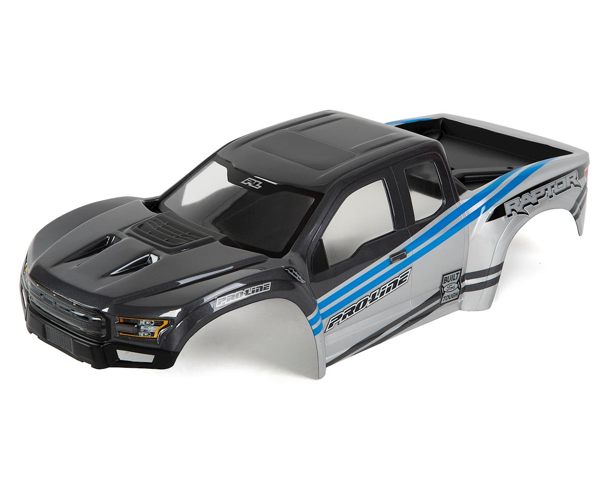 X-MAXX 2017 Ford F-150 Raptor Pre-Painted Body (Gray/Blue) by Pro-Line