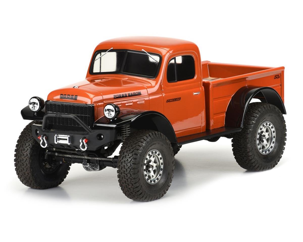 "Pro-Line 1946 Dodge Power Wagon 12.3"" Crawler Body (Clear) (Axial SCX10 II)"