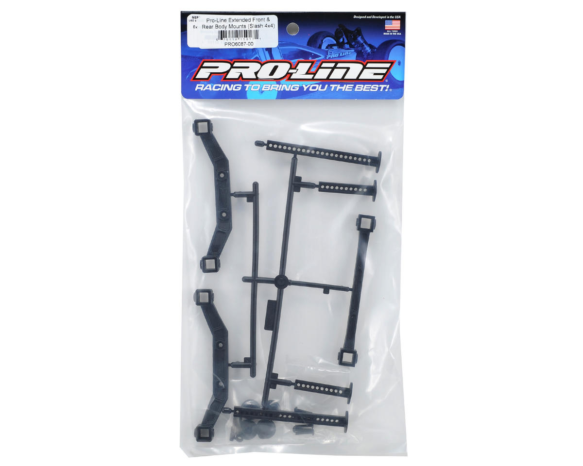 Pro-Line Extended Front & Rear Body Mounts (Slash 4x4)