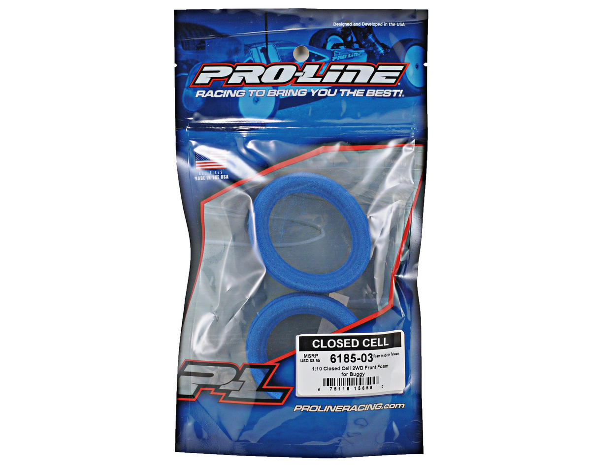 "Pro-Line 1/10 2WD 2.2"" Buggy Front Closed Cell Foam Tire Inserts (2)"