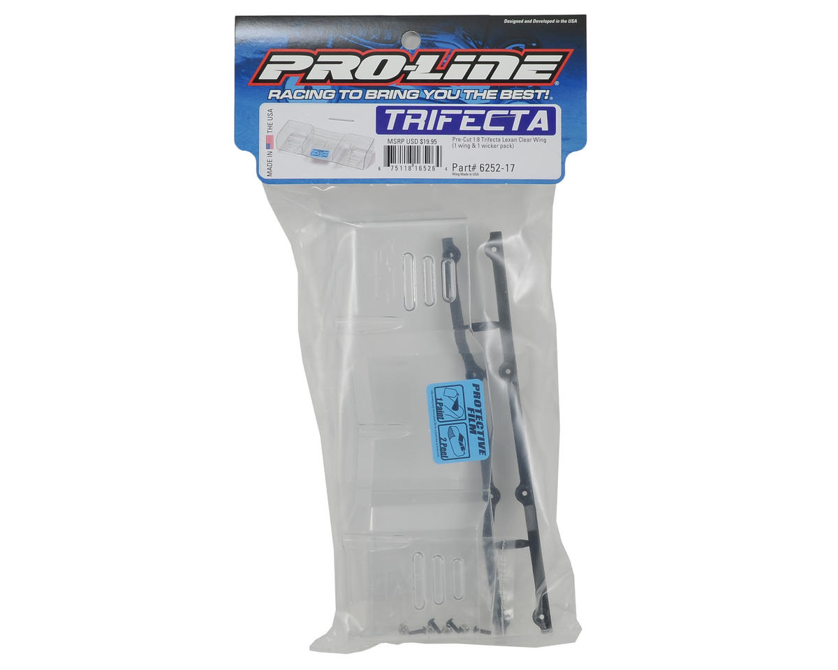 Pro-Line Trifecta Pre-Cut Lexan 1/8 Off Road Wing (Clear)