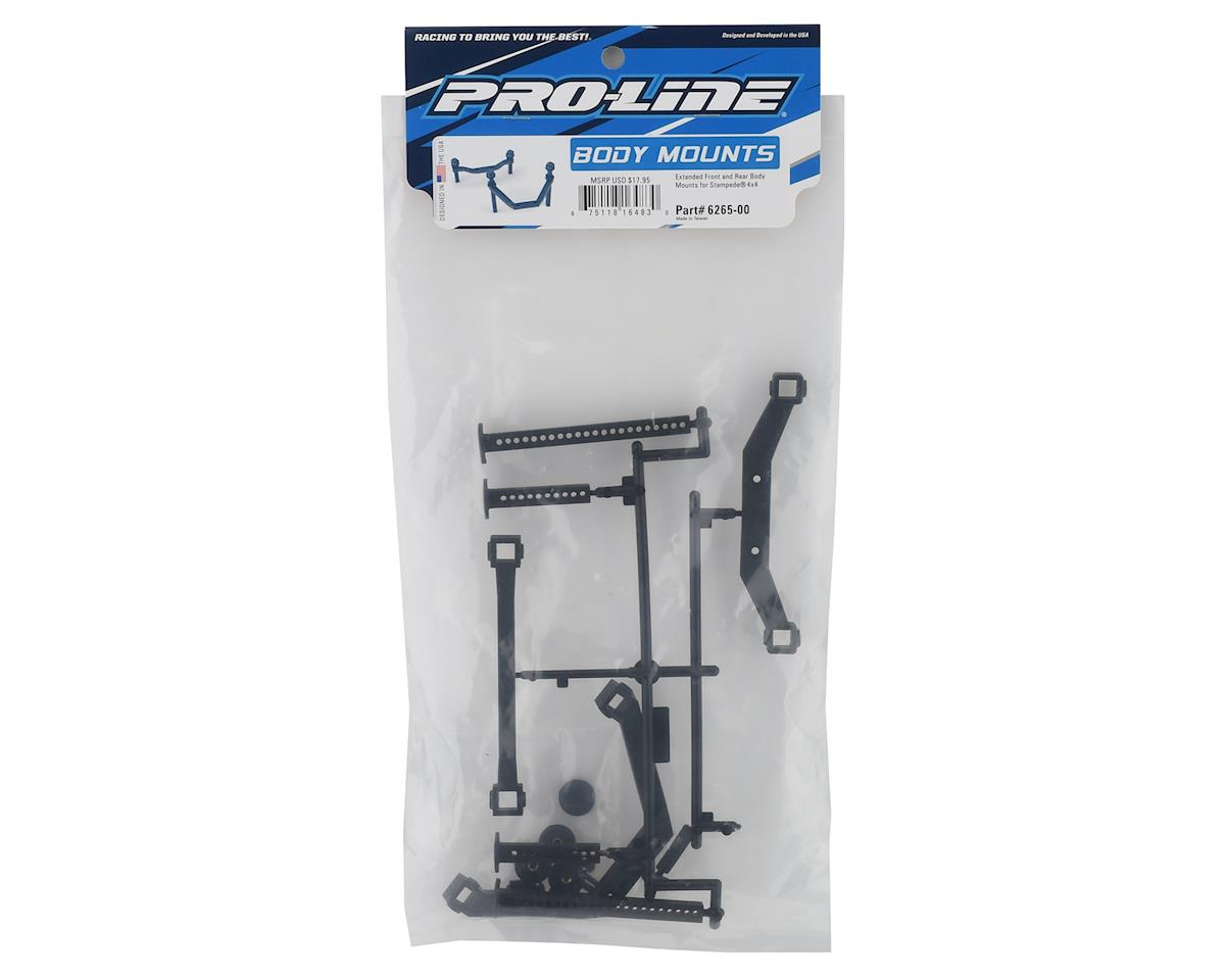 Stampede 4x4 Front & Rear Extended Body Mount Set by Pro-Line