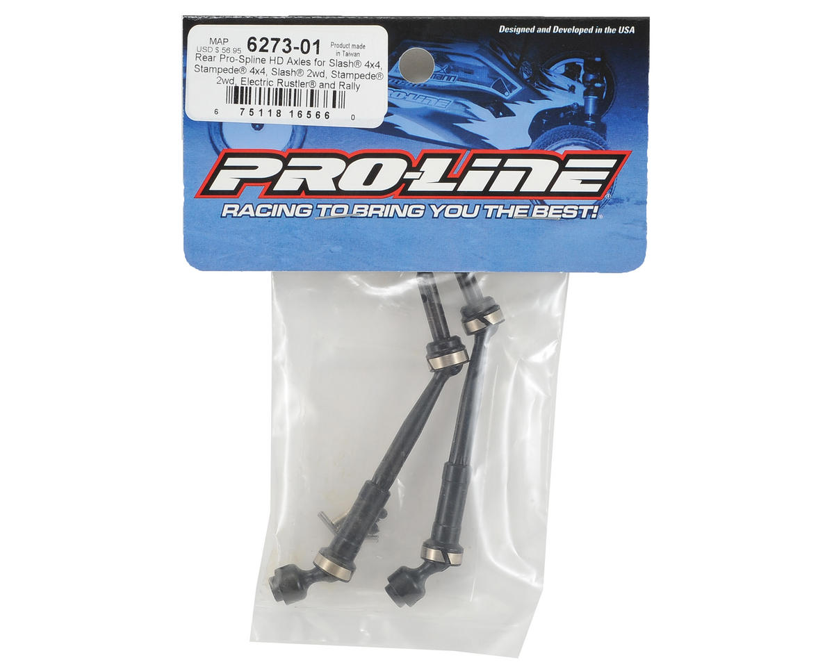 Traxxas Slash/Stampede 4x4 Pro-Spline Rear HD Axle Set by Pro-Line