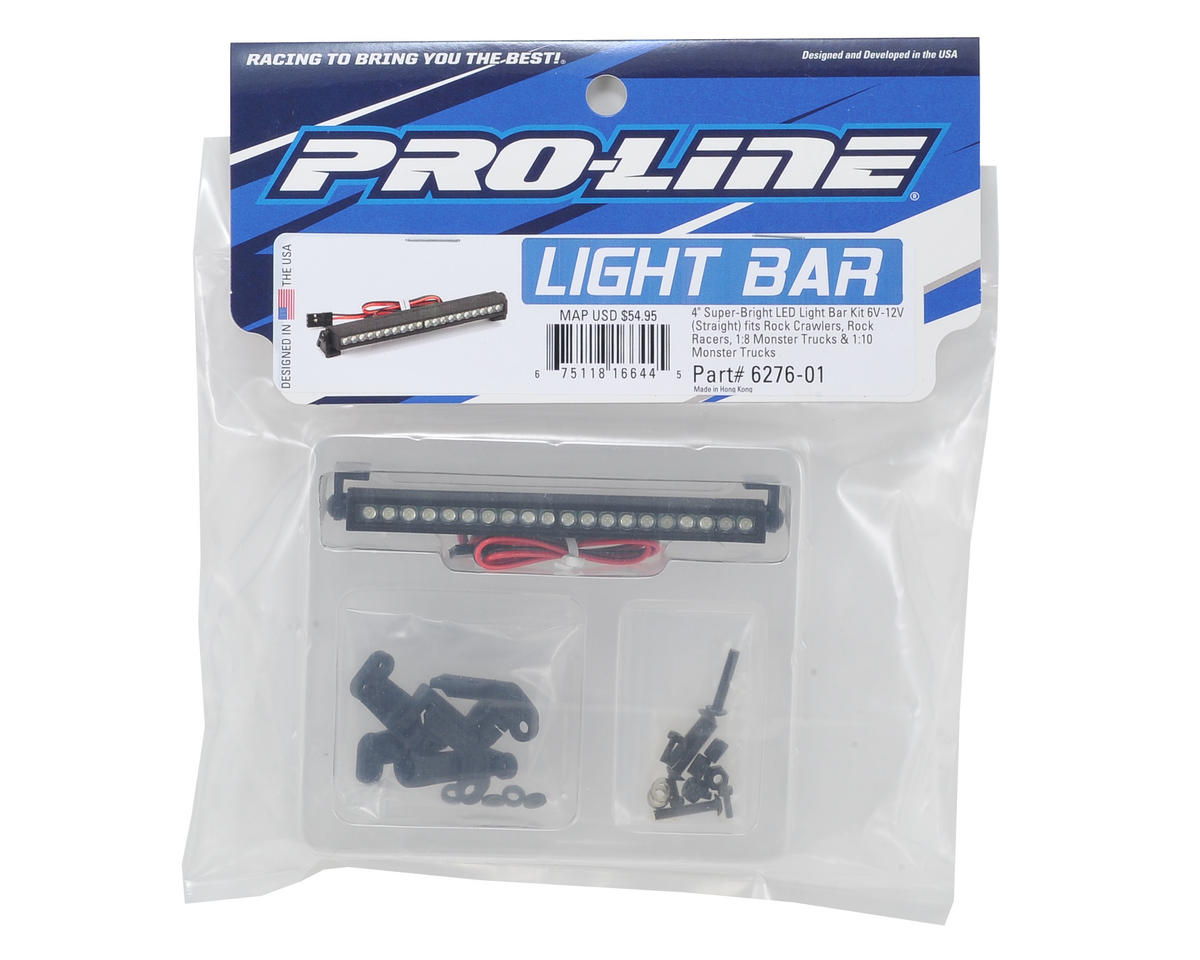 "Pro-Line 4"" Straight Super-Bright LED Light Bar Kit (6V-12V)"